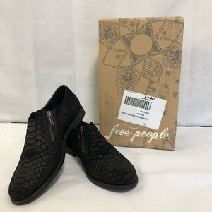 Free People Balboa Darby Black Ankle Boots Zip CP
